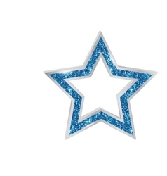 Pendant Star in the frame vector image