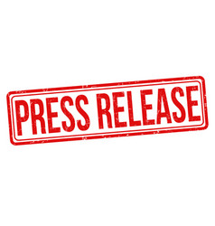 press release grunge rubber stamp vector image