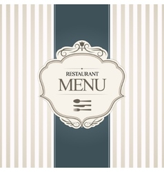 Restaurant menu cover design vector