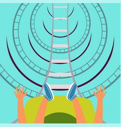 Roller coaster bottom view vector