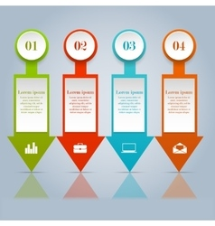 set infographic design elements vector image