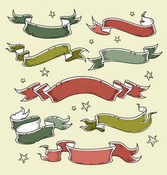set of colored holiday ribbonsinscription 2019 vector image