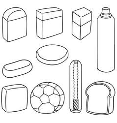 set of eraser vector image