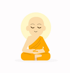Sitting buddha with meditation pose vector