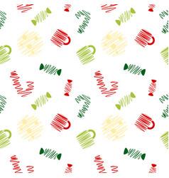 Sketch christmas sweet pattern vector
