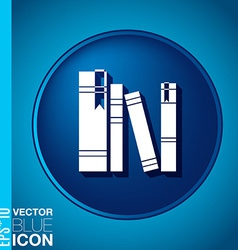 spines of books icon symbol of a science and vector image