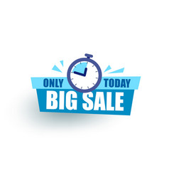 Sticker sale the gift box says sale only today vector