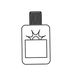 Sun bronzer bottle vector image