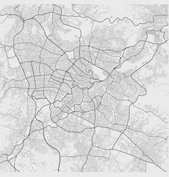 Urban city map amman poster grayscale street vector