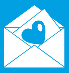 vintage envelopes and heart icon white vector image