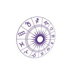 zodiac icon vector image