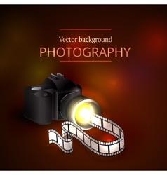 Camera shooting photo and video vector