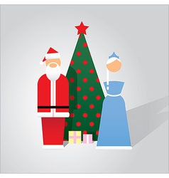 Flat design Christmas cards vector image