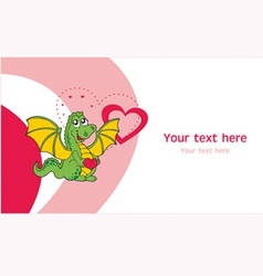 Love dragon greeting card vector