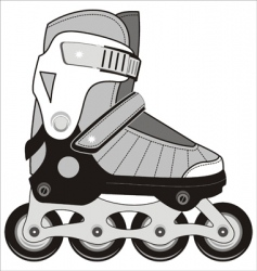 sports roller skates vector image vector image