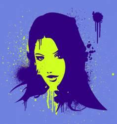 stencil gal vector image