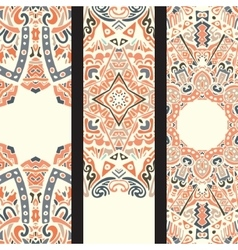 Beautiful ethinic ornamental banner set vector image vector image