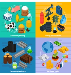 Commodity Concept Icons Set vector image vector image