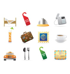 Icons for hotel and services vector image vector image