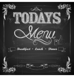 Menu written on Chalkboard vector image