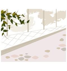 Park Stone Path vector image
