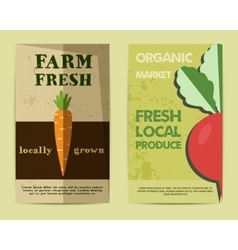 Set of Stylish Farm Fresh flyer template or vector image vector image