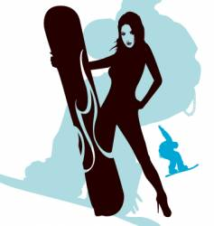 snowboarding is sexy vector image vector image