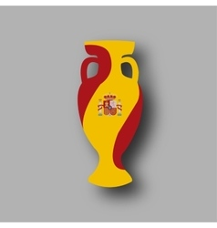sport competition cup Spain participant vector image vector image