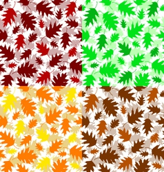 Texture of oak leaves vector image vector image
