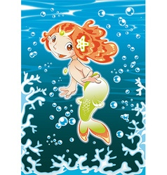 Baby Mermaid vector image vector image