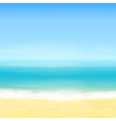 Beach and blue sea vector image