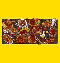 culinary banner barbecue vector image vector image