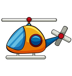 Helicopter toy vector image