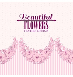Pink flower seamless pattern vector image
