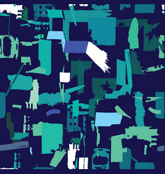 artisan seamless pattern with abstract shapes and vector image vector image