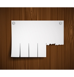 Blank ads on the wooden wall vector