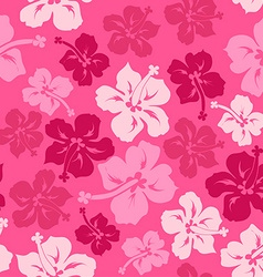 Floral seamless pattern of hawaiian hibiscus vector