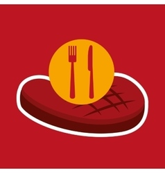 grill fast food concept beef steak vector image