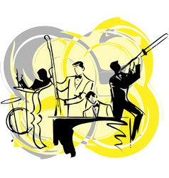 musicians play classical music vector image vector image