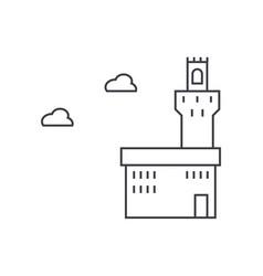 palazzo vecchio line icon sign vector image