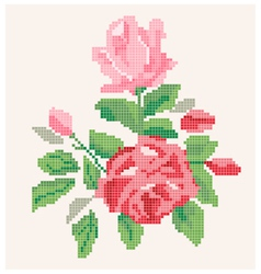 Roses artwork vector image vector image