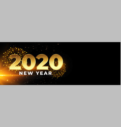 2020 happy new year celebration banner with vector image