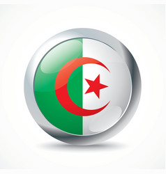 Algeria flag button vector image