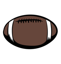 American football icon cartoon vector