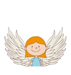 Angel girl wing icon graphic vector