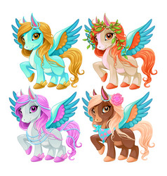 Baby pegasus for freedom and magic vector