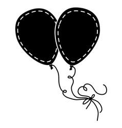 Balloons air celebration icon vector