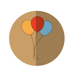balloons party celebration icon vector image