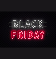 black friday sale friday neon sign vector image
