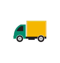 box truck icon design template isolated vector image
